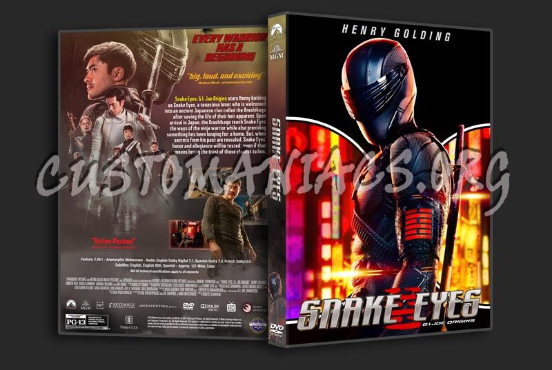 Snake Eyes: GI Joe Origins dvd cover