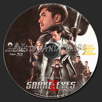 Snake Eyes: G.I. Joe Origins 2V blu-ray label