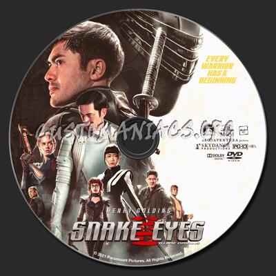 Snake Eyes: G.I. Joe Origins 2V dvd label