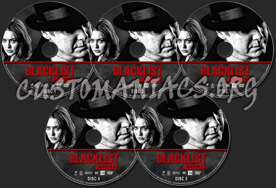 The Blacklist - Season 8 dvd label