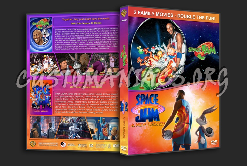 Space Jam Double Feature dvd cover