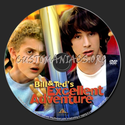 Bill and Ted\'s Excellent Adventure dvd label