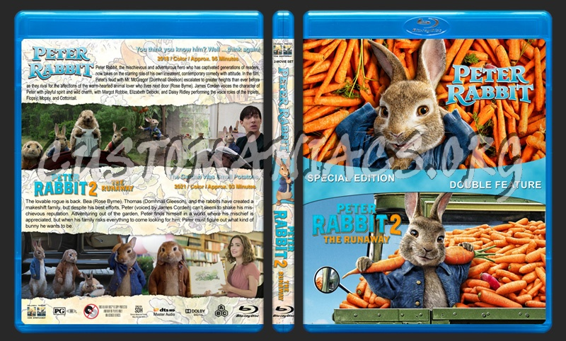 Peter Rabbit Double Feature blu-ray cover