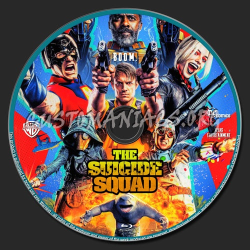 The Suicide Squad blu-ray label