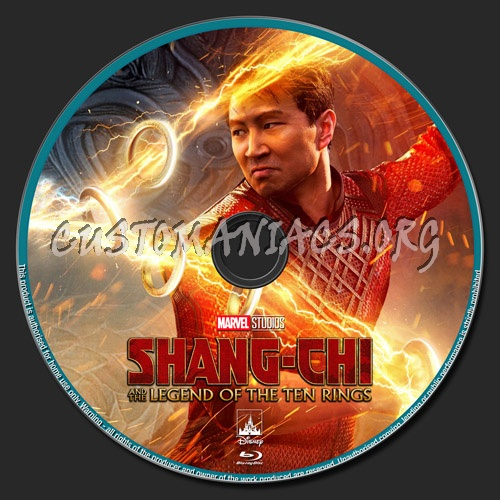 Shang-Chi And The Legend Of The Ten Rings blu-ray label