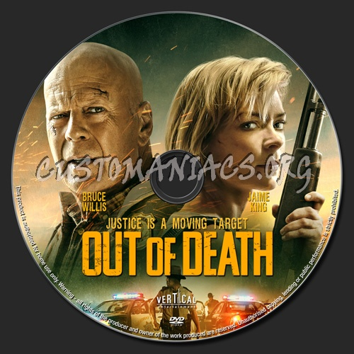 Out Of Death dvd label