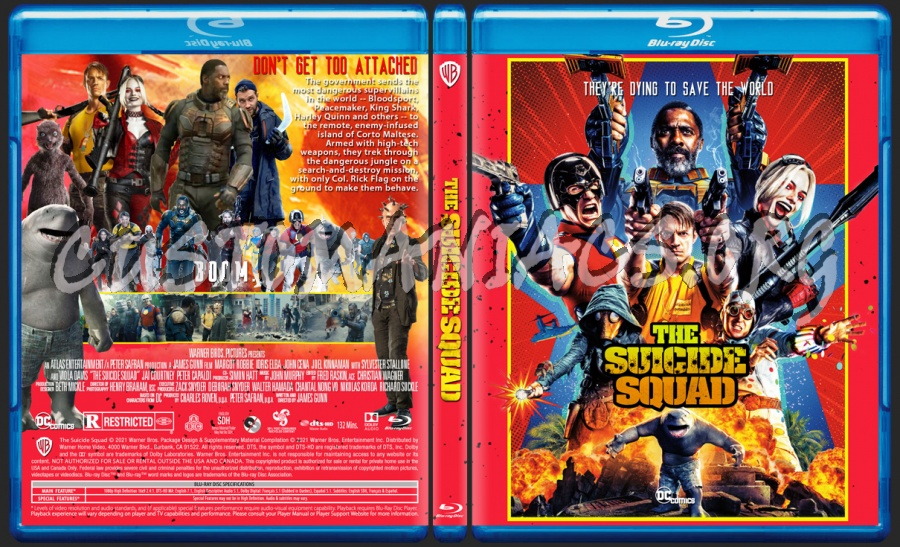 The Suicide Squad blu-ray cover