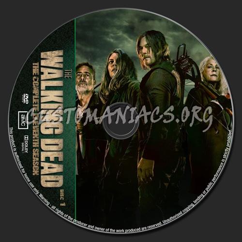 The Walking Dead Season 11 dvd label
