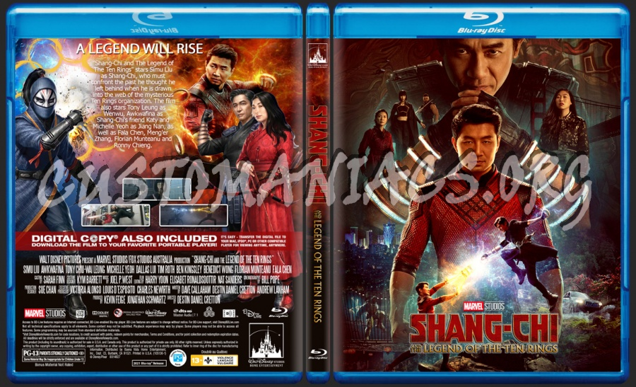 Shang-Chi And The Legend Of The Ten Rings blu-ray cover