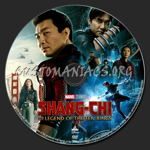 Shang-Chi And The Legend Of The Ten Rings dvd label