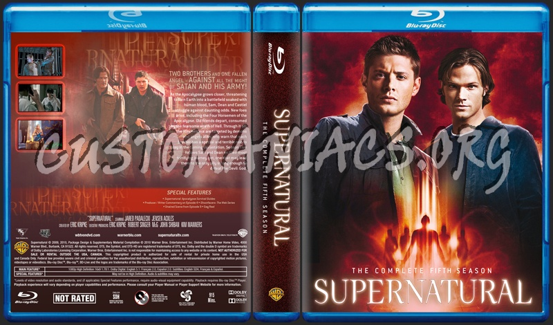 Supernatural Season 5 dvd cover