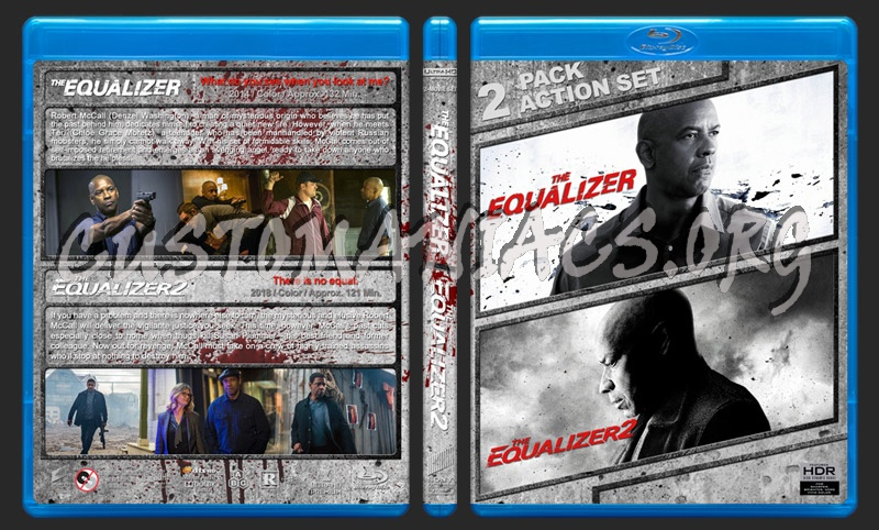 The Equalizer Double Feature (4K) blu-ray cover