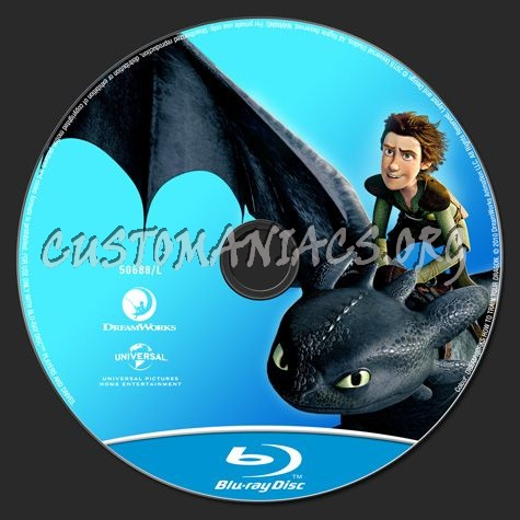 How to Train your Dragon blu-ray label