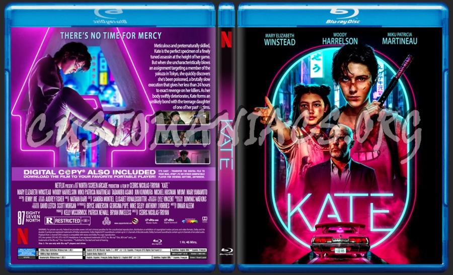Kate blu-ray cover