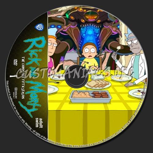 Rick And Morty Season 5 dvd label