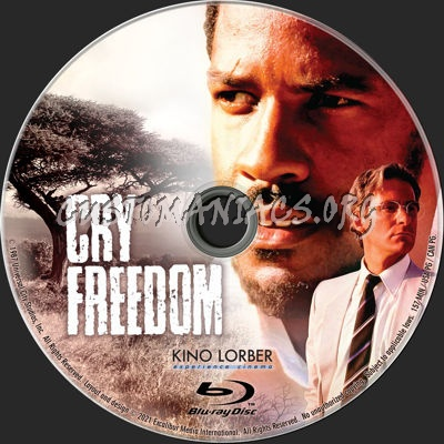 Cry Freedom (1987) blu-ray label