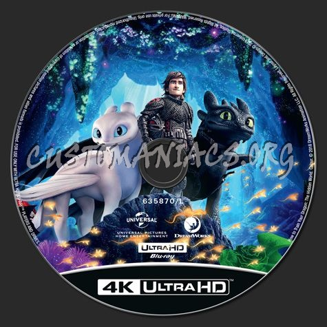 How to Train Your Dragon The Hidden World 4K blu-ray label