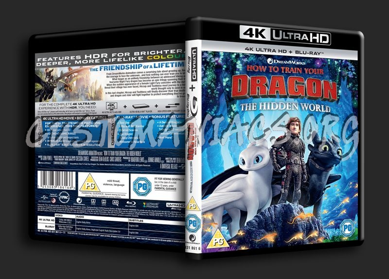 How to Train Your Dragon The Hidden World 4K blu-ray cover