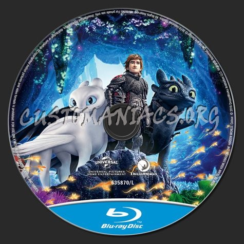 How To Train Your Dragon The Hidden World blu-ray label