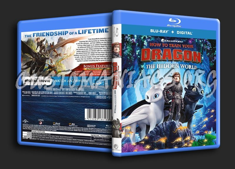 How To Train Your Dragon The Hidden World blu-ray cover