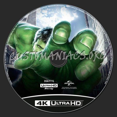 Hulk 4K blu-ray label