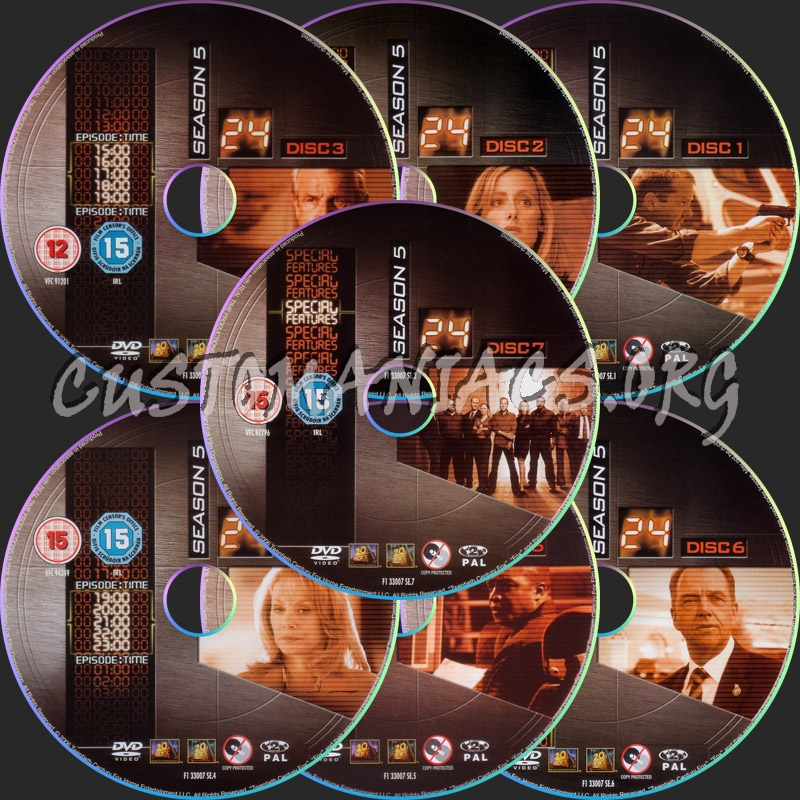 24 - Season 5 dvd label - DVD Covers & Labels by