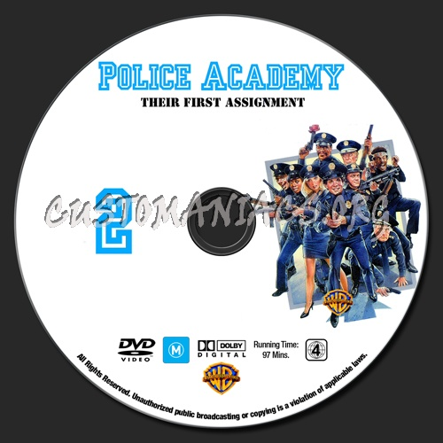 Police Academy 1 - 7 dvd label