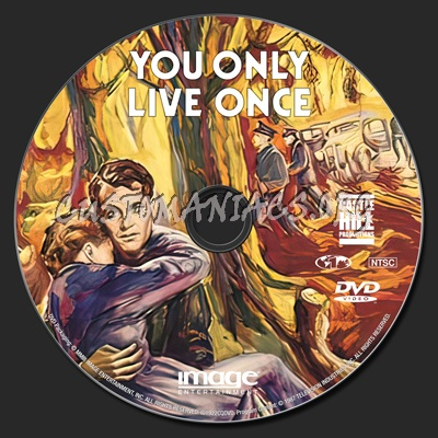 You Only Live Once dvd label