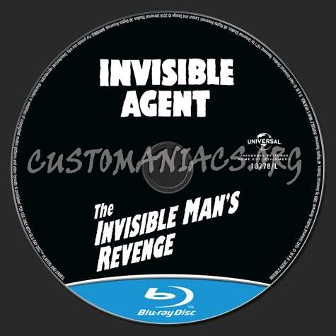 Invisible Agent & The Invisible Man's Revenge blu-ray label