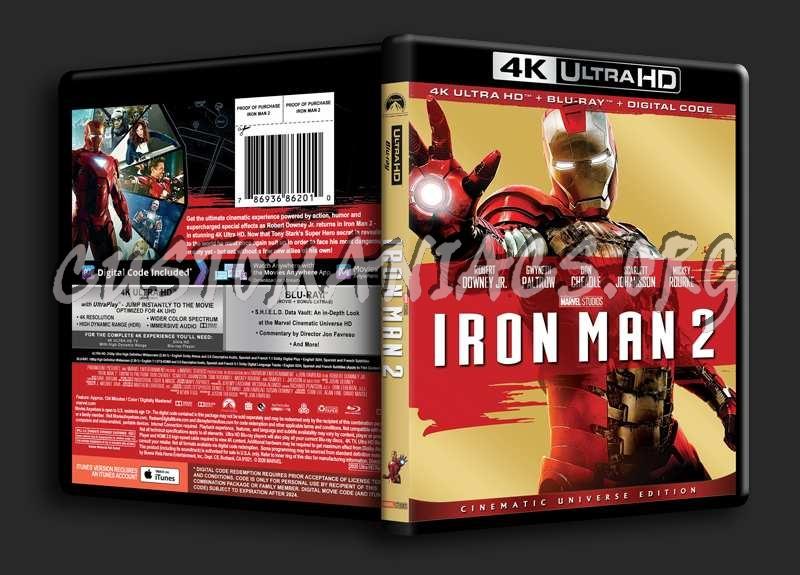 Iron Man 2 4K blu-ray cover