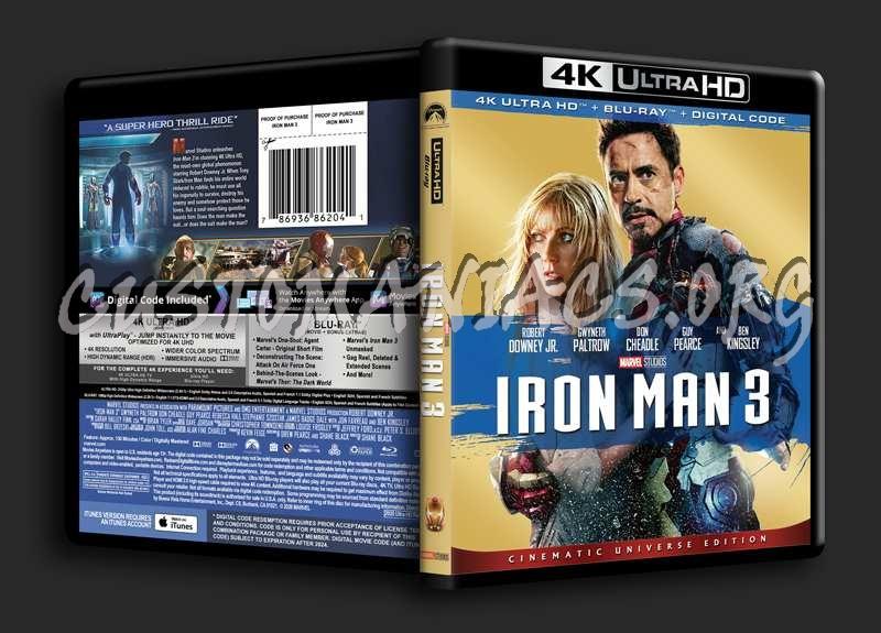 Iron Man 3 4K blu-ray cover