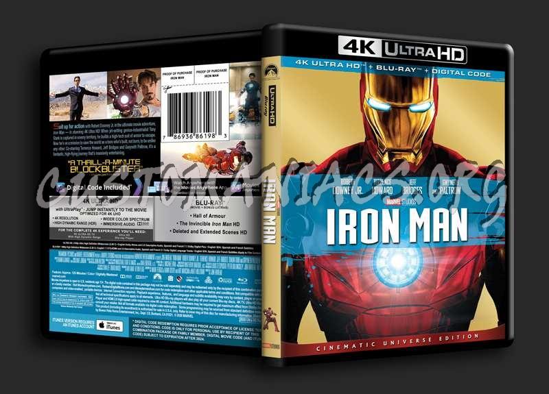 Iron Man 4K blu-ray cover