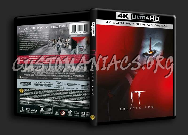 IT Chapter 2 4K blu-ray cover