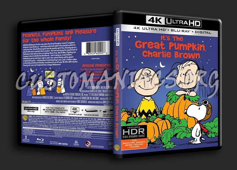 It's the Great Pumpkin, Charlie Brown 4K blu-ray cover