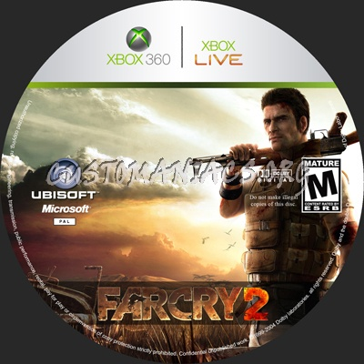 Far Cry 2 dvd label - DVD Covers & Labels by Customaniacs, id: 45602