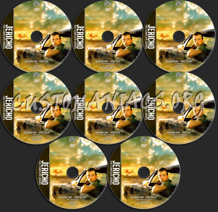 Jericho Complete Series dvd label