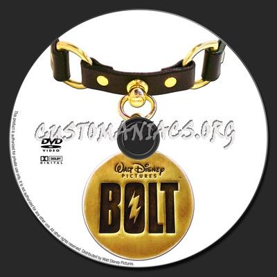 Bolt dvd label