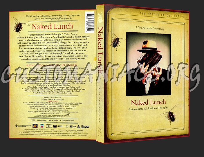 220 - Naked Lunch dvd cover