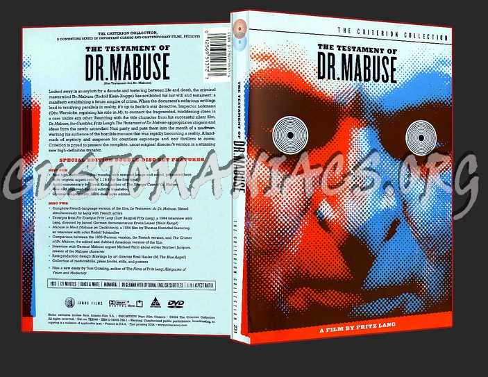 231 - The Testament of Dr. Mabuse dvd cover