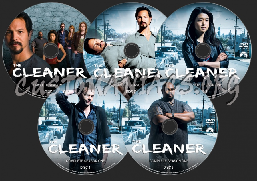 The Cleaner Season 1 dvd label