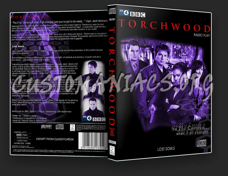 Torchwood - Lost Souls dvd cover