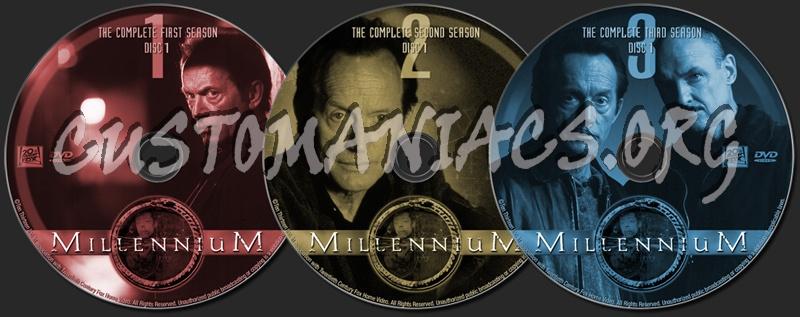 Millennium The Complete Series dvd label