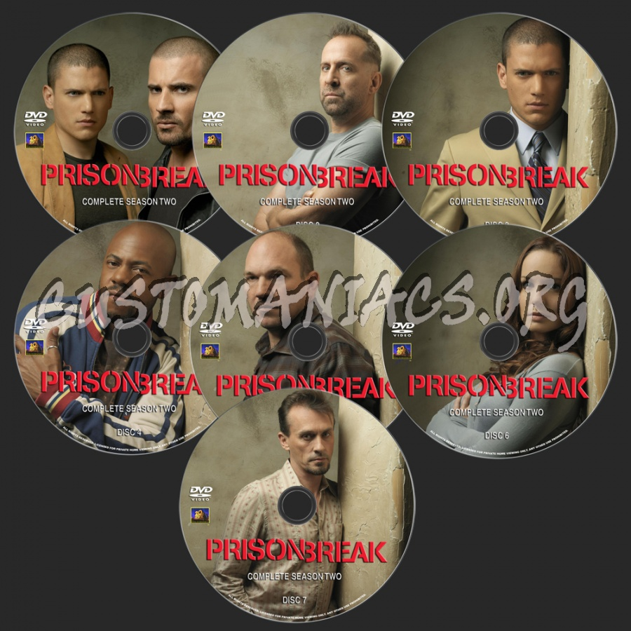 Prison Break Season 2 dvd label