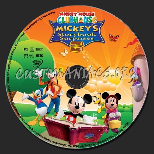 Mickey Mouse Clubhouse: Mickeys Storybook Surprises dvd label