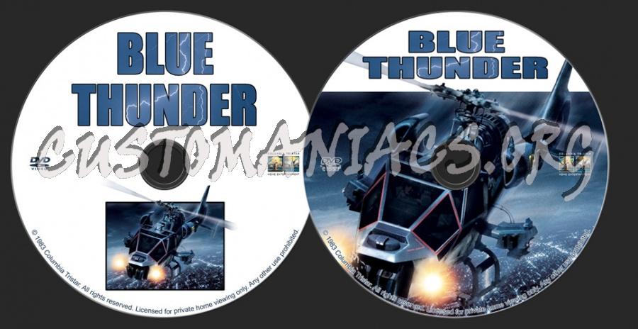 Blue Thunder dvd label