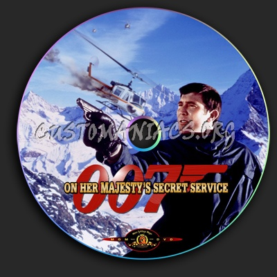 On Her Majesty's Secret Service dvd label