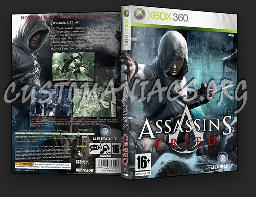 Book Cover Handmade Xbox One ~ Assassins creed dvd cover covers labels by