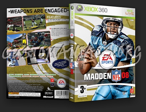 Madden 08 dvd cover - DVD Covers & Labels by Customaniacs, id: 46983