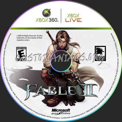Fable 2 dvd label - DVD Covers & Labels by Customaniacs, id: 47149