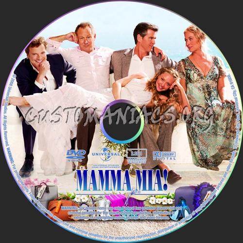 Mamma Mia! The Movie dvd label
